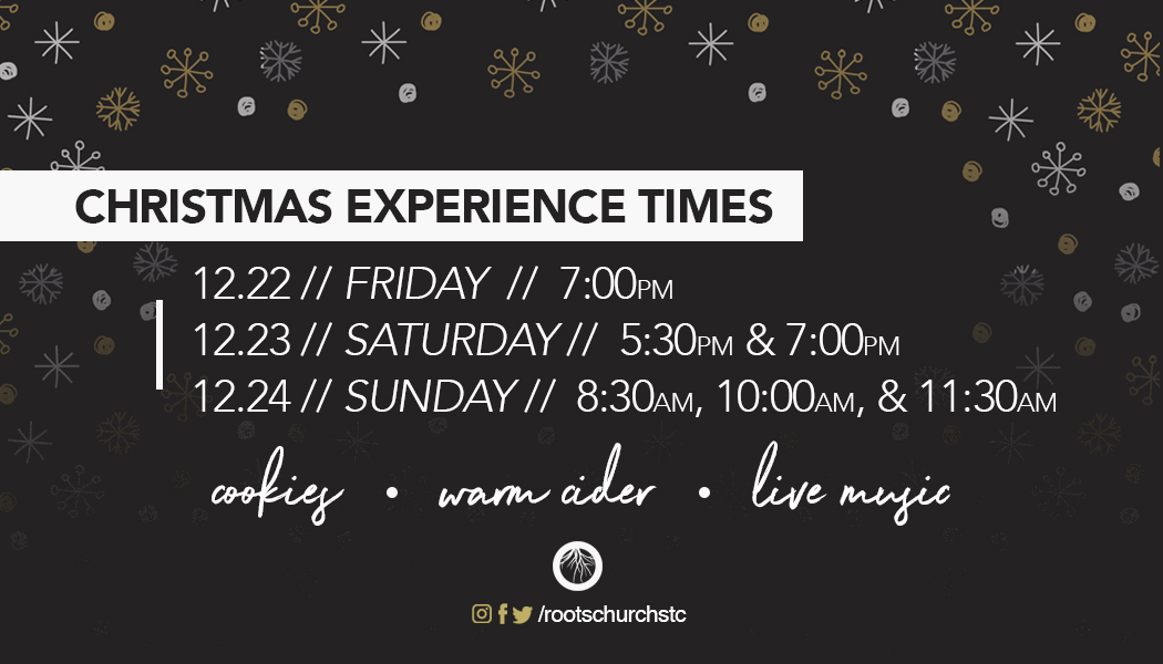 Christmas Experience Times